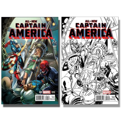 ALL-NEW CAPTAIN AMERICA #1 J. SCOTT CAMPBELL VARIANT SET