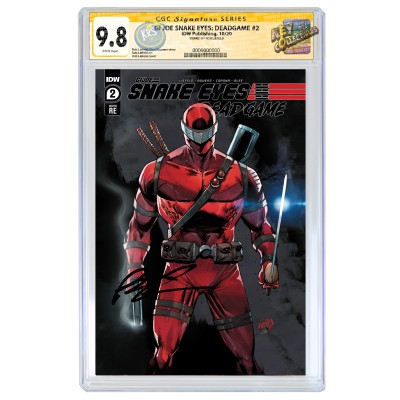 GI JOE SNAKE EYES: DEADGAME #2 ROB LIEFELD EXCLUSIVE COVER A VARIANT  CGC SS 9.8 SIGNED BY ROB LIEFELD