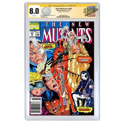 THE NEW MUTANTS #98 CGC SS 8.0 (UPC) SIGNED BY ROB LIEFELD