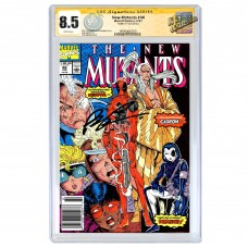 THE NEW MUTANTS #98 CGC SS 8.5 (UPC) SIGNED BY ROB LIEFELD