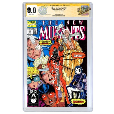 THE NEW MUTANTS #98 CGC SS 9.0 (DIRECT EDITION) SIGNED BY ROB LIEFELD