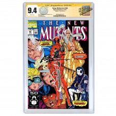 THE NEW MUTANTS #98 CGC SS 9.4 (DIRECT EDITION) SIGNED BY ROB LIEFELD