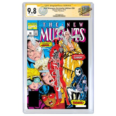 THE NEW MUTANTS #98 FACSIMILE EDITION CGC SS 9.8 SIGNED BY ROB LIEFELD
