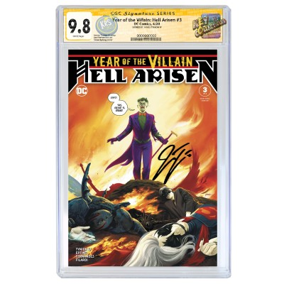 YEAR OF THE VILLAIN: HELL ARISEN #3 CGC SS 9.8 SIGNED BY JAMES TYNION IV