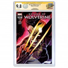 2018 NYCC RETURN OF WOLVERINE CAMPBELL GITD VARIANT CGC SIGNATURE SERIES 9.8 SIGNED BY J. SCOTT CAMPBELL