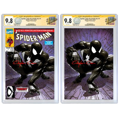 2020 NYCC SPIDER-MAN #1 CLAYTON CRAIN FACSIMILE VARIANT SET CGC SIGNATURE SERIES 9.8 SIGNED BY CLAYTON CRAIN