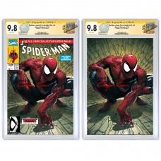 SPIDER-MAN #1 CLAYTON CRAIN FACSIMILE VARIANT SET CGC SIGNATURE SERIES 9.8 SIGNED BY CLAYTON CRAIN