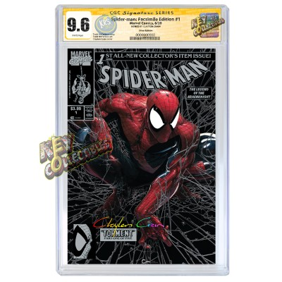 SPIDER-MAN #1 CLAYTON CRAIN SILVER FACSIMILE VARIANT CGC SIGNATURE SERIES 9.6 SIGNED BY CLAYTON CRAIN