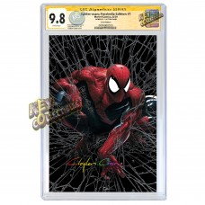 SPIDER-MAN #1 CLAYTON CRAIN SILVER VIRGIN FACSIMILE VARIANT CGC SIGNATURE SERIES 9.8 SIGNED BY CLAYTON CRAIN