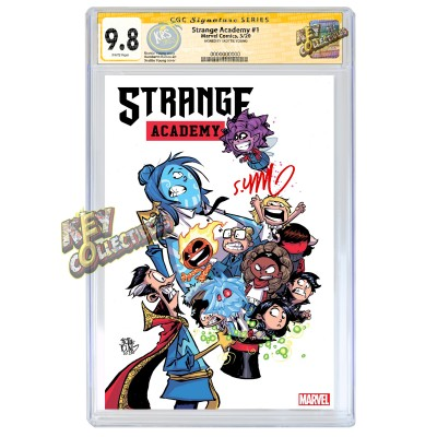 STRANGE ACADEMY #1 SKOTTIE YOUNG VARIANT  CGC SS 9.8 SIGNED BY SKOTTIE YOUNG