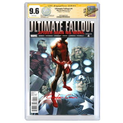 ULTIMATE FALLOUT #4 CGC SIGNATURE SERIES 9.6 SIGNED BY CLAYTON CRAIN