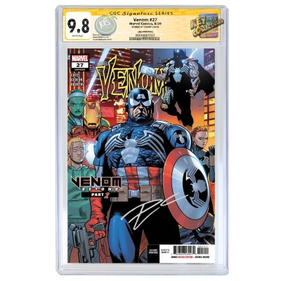 VENOM #27 2ND PRINTING CGC SIGNATURE SERIES 9.8 SIGNED BY DONNY CATES
