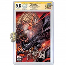 VENOM #27 JONBOY MEYER ERROR VARIANT CGC SIGNATURE SERIES 9.6 SIGNED BY DONNY CATES AND RYAN STEGMAN
