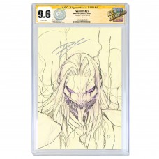 VENOM #27 PEACH MOMOKO SKETCH VARIANT CGC SIGNATURE SERIES 9.6 SIGNED BY DONNY CATES