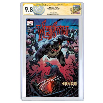 VENOM #28 GEOFFREY SHAW COVER A CGC SIGNATURE SERIES 9.8 SIGNED BY DONNY CATES