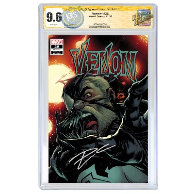 VENOM #28 RYAN STEGMAN COVER B CGC SIGNATURE SERIES 9.6 SIGNED BY DONNY CATES