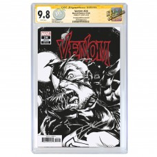 VENOM #28 RYAN STEGMAN SKETCH VARIANT COVER B CGC SIGNATURE SERIES 9.8 SIGNED BY DONNY CATES
