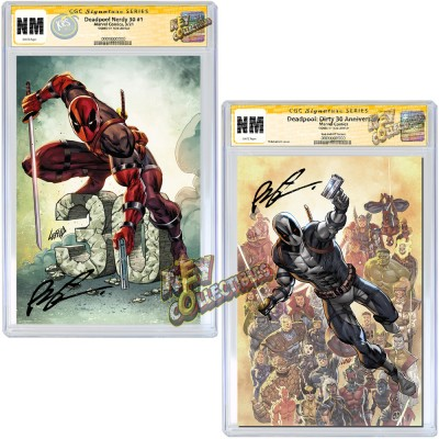 DEADPOOL NERDY 30 #1 COVER A + B CGC SIGNATURE SERIES SIGNED BY ROB LIEFELD - MID MARCH, 2021 SIGNING